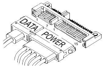 Шина Serial ATA SATA зачастую разделена на два отдельных разъема, один разъ
